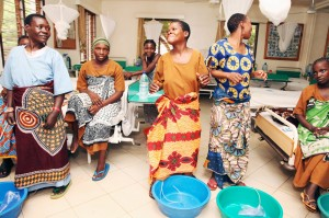 Women celebrate at CCBRT in Tanzania