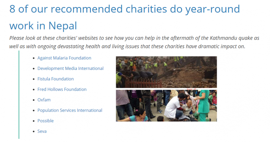 8 recommended charities