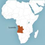 Map of Luanda, Angola