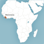 Map of Monrovia, Liberia