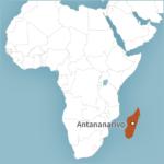 Map of Antananarivo, Madagascar