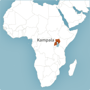 Map of Kampala, Uganda